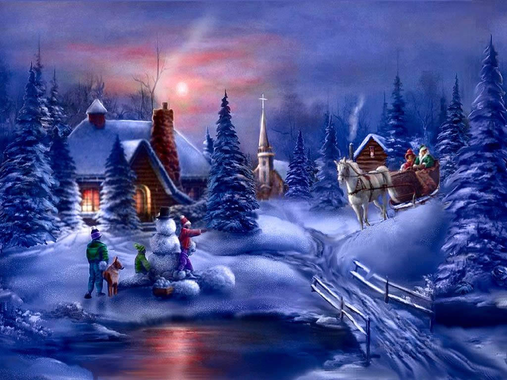 wallpapers noel paysage christmas - photo #11